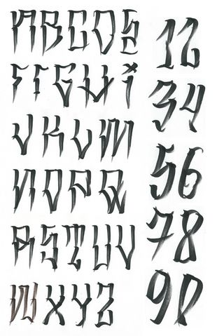 Alphabet Letters For Tattoos