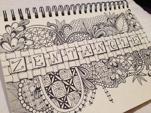 Zentangle Tumblr Zentangle Drawings Zentangle Patterns