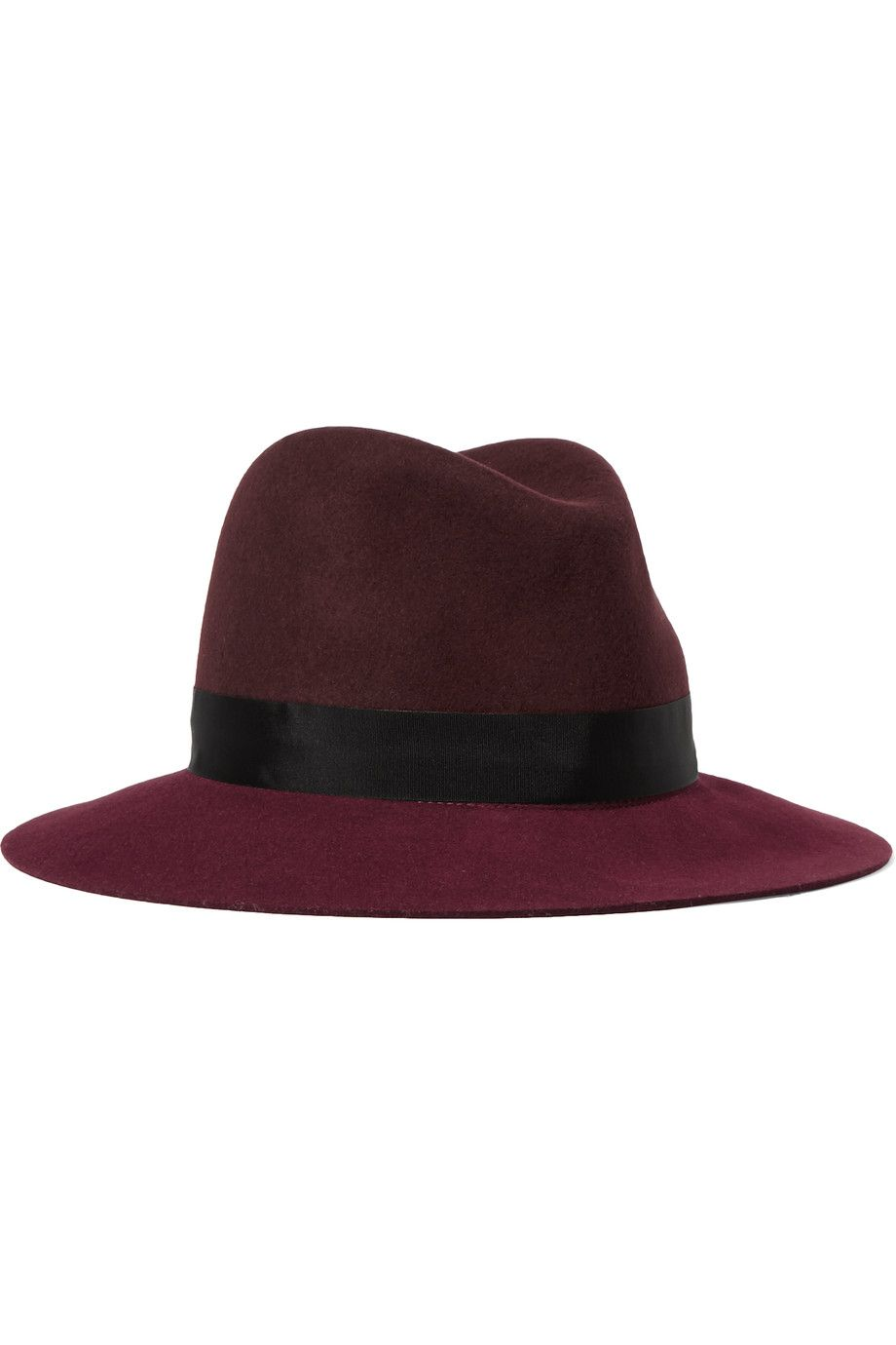 8578c66ff0c99 Shop on-sale rag   bone Two-tone wool-felt fedora. Browse other discount  designer Hats   more on The Most Fashionable Fashion Outlet