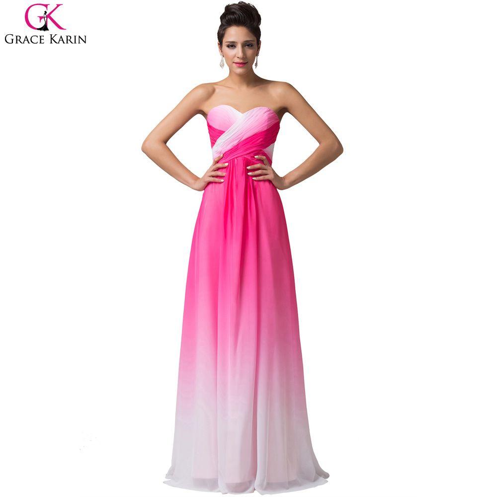 Grace Karin Dresses Blue Rose Chiffon Cheap Bridesmaid Dresses Under ...