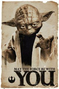 Star Wars Yoda May The Force Be With You Poster from Poster Revolution Disc: Affiliate Link