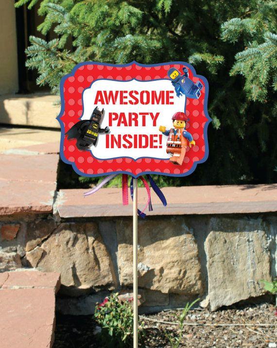 Lego Movie Birthday Party Yard Signs 2 Small Yard By Punkyprep