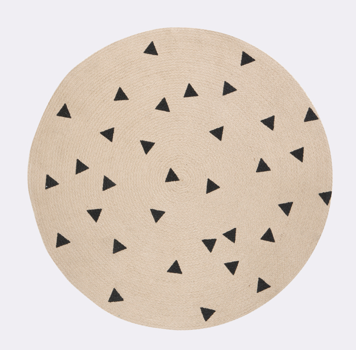 Triangle Round Jute Carpet by Ferm Living   Rug Love ...
