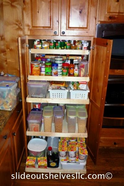 Pull Out Shelves For Kitchen And Pantry Made To Fit Slide Out Shelves Pull Out Pantry Shelves Sliding Cabinet Shelves