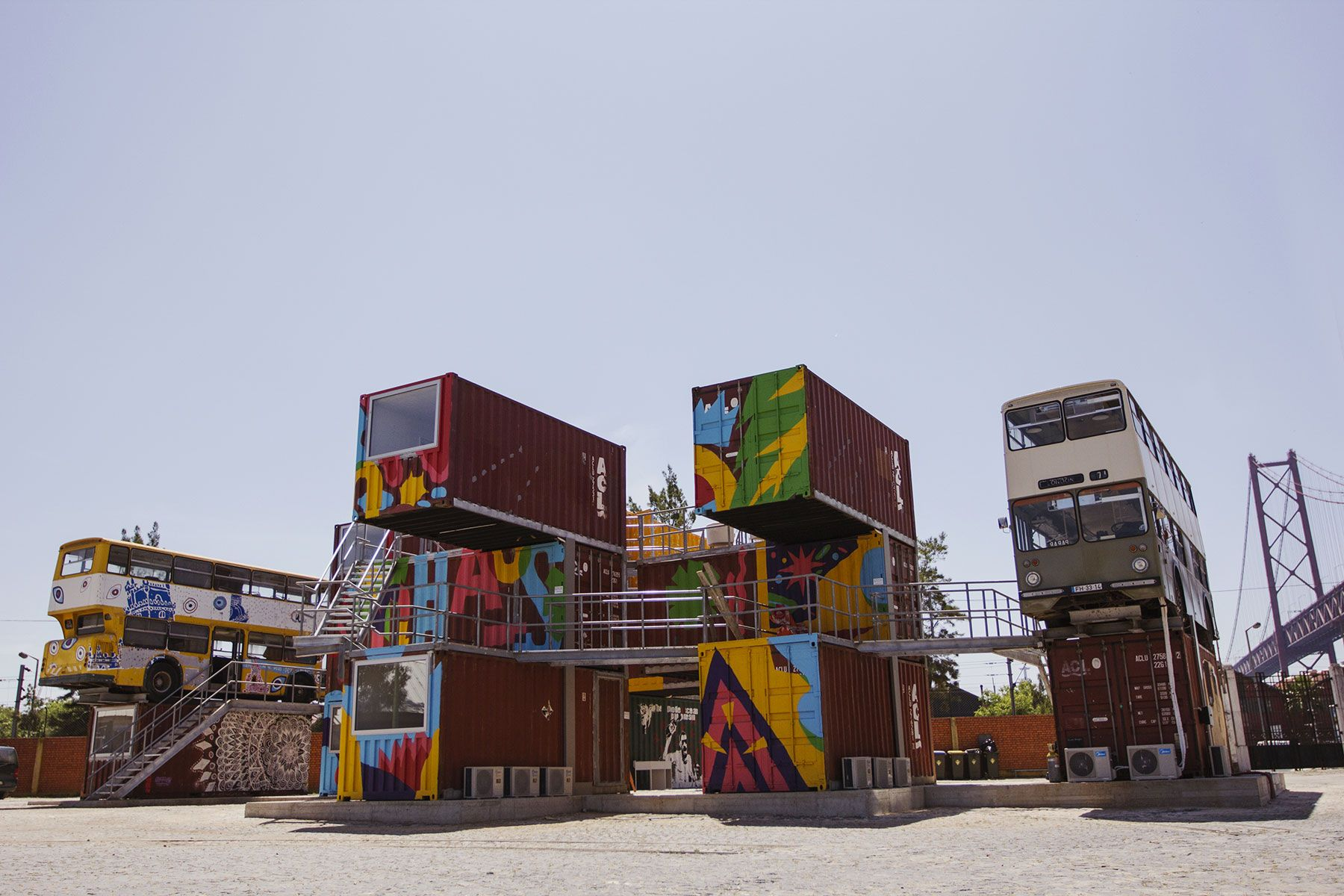 Village Underground, cowork space, Lisboa, by  João Cassiano Santos, Joana Astolfi #architecture #workspace #design #reuse #recycling #democraticdesign #container #lisboa #portugal