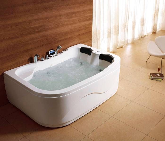 Whirlpool 2 Person Jacuzzi Offsett Corner Bath Spa Jets Massage Tap Heater  Radio | EBay