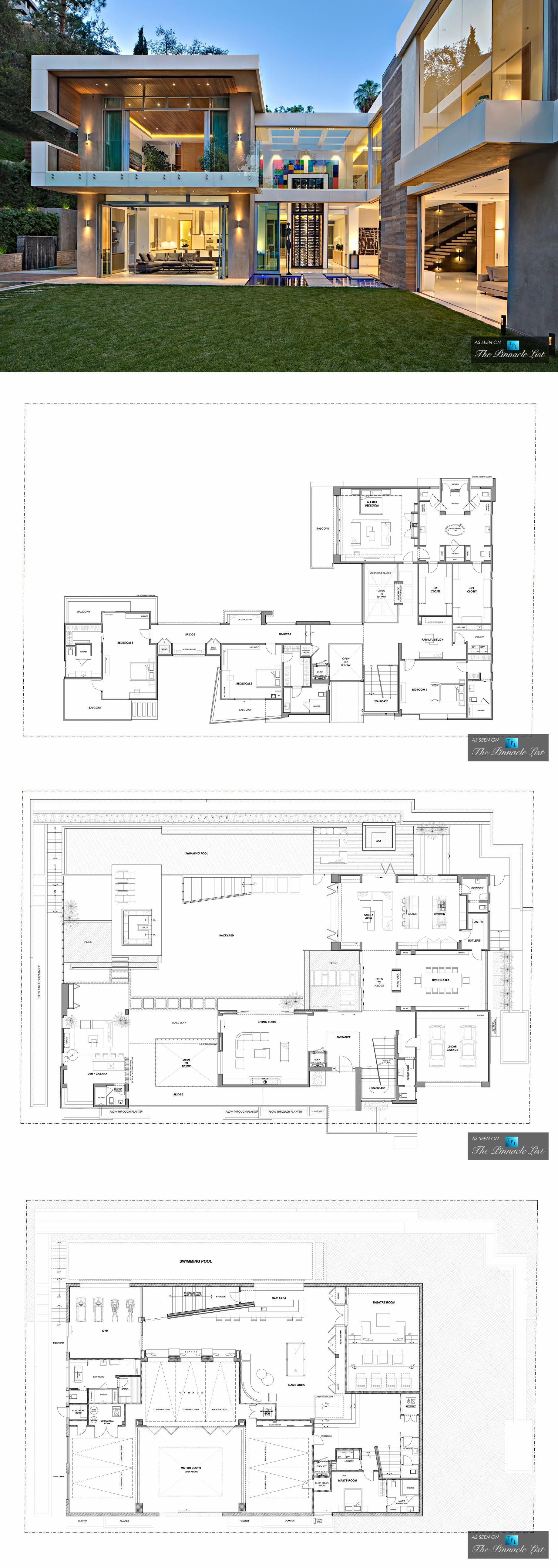 Luxury Residence 1307 Sierra Alta Way Los Angeles Ca House Layout Plans Luxury House Floor Plans Modern Floor Plans