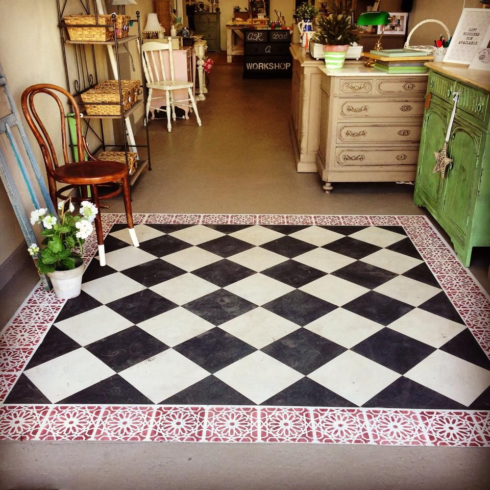 Annie Sloan Painted Concret Floor By Claire V Sissons Of