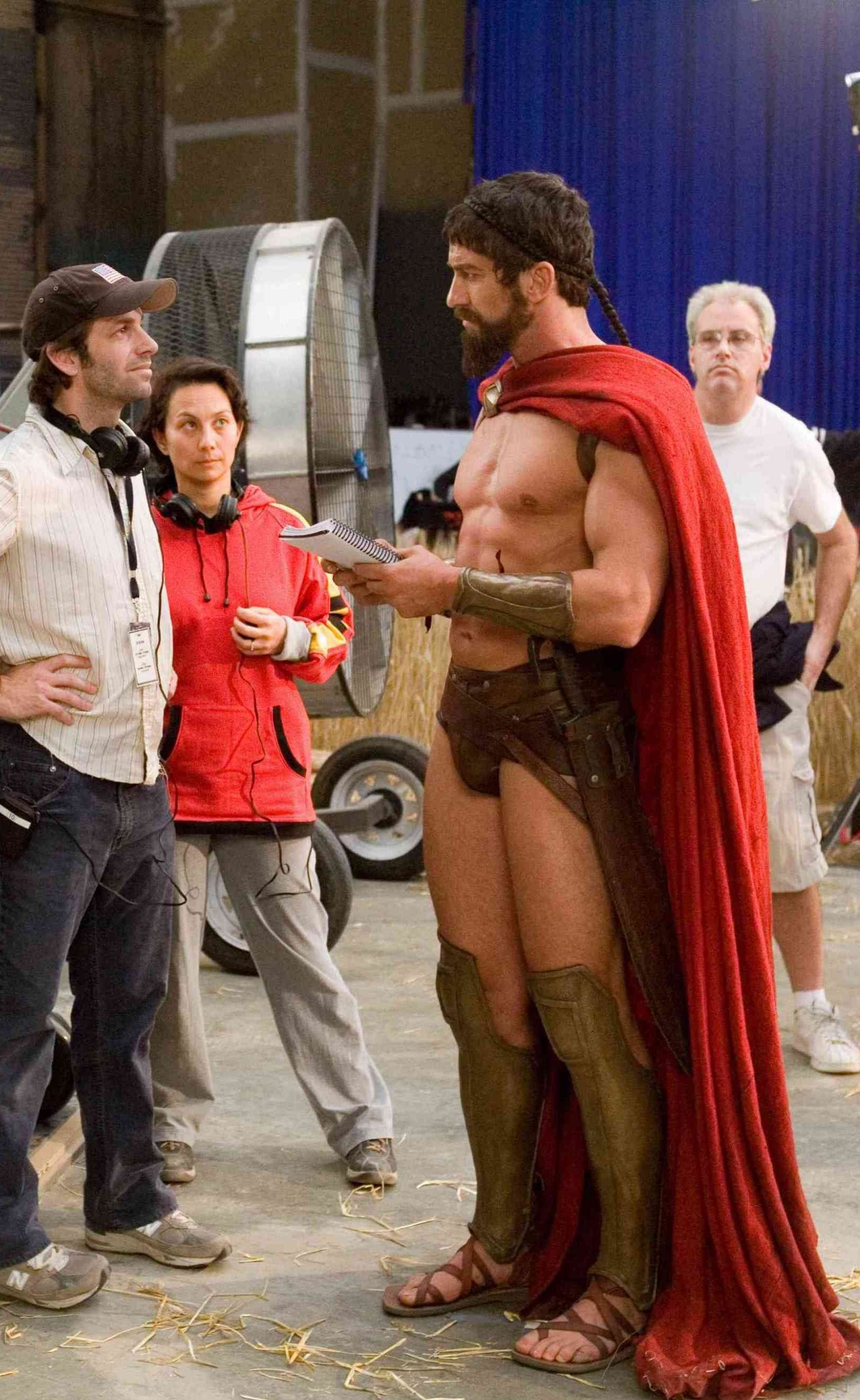 Gerard Butler -Compared to the other people there; he looks huge!