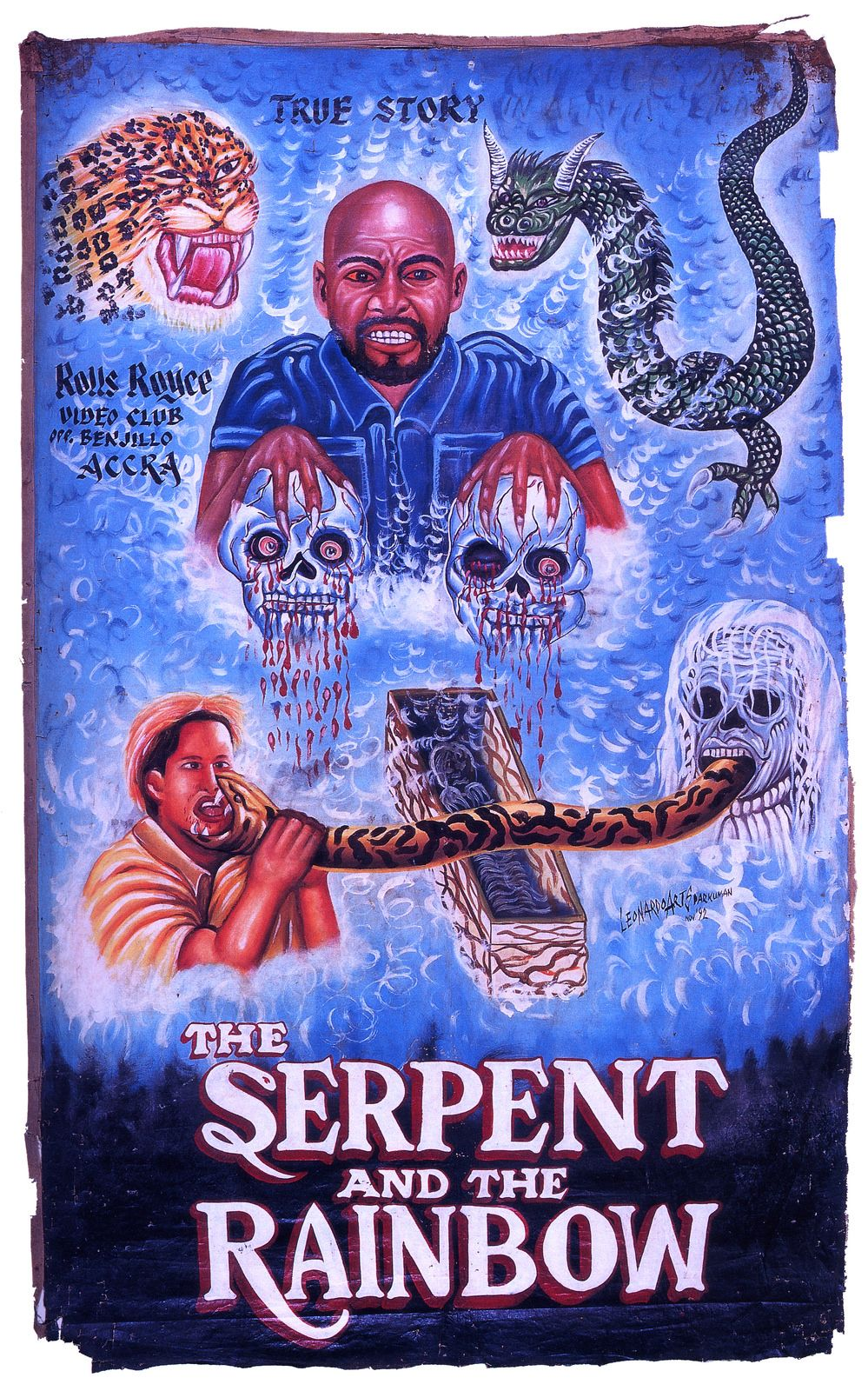 Hand Painted Horror Movie Posters From Ghana Horrorfilm Poster