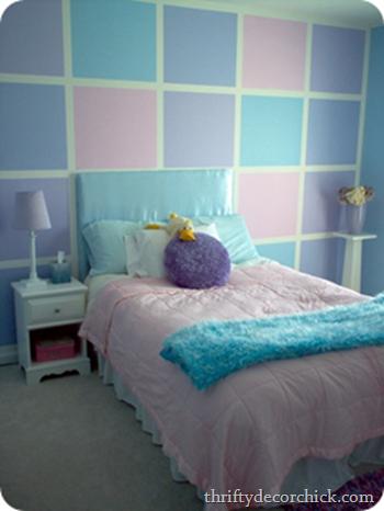 An Ombre Wall Guest Room Progress Purple Girls Room Girls Room Paint Girls Bedroom Paint