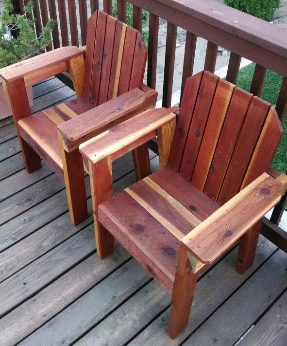 Redwood Deck Chairs   Woodworking bench for sale ...