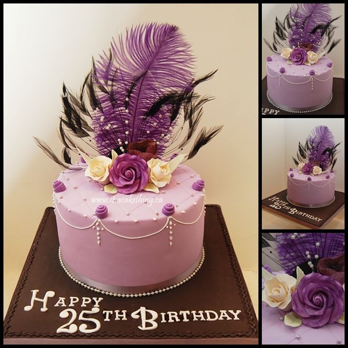 Birthday Cakes For 25 Years