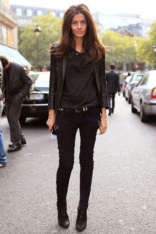 Barbara Martelo, stylist, at Paris Fashion Week | @andwhatelse