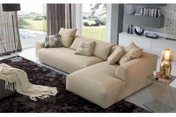 Los sof s modernos de la tela del color beige sof for Sofas tela modernos