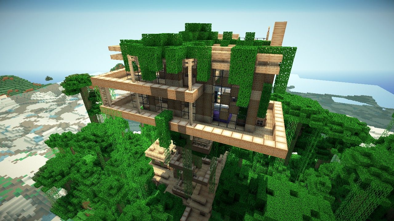 Minecraft Jungle Treehouse Blueprintsjungle Treehouse By Keralis
