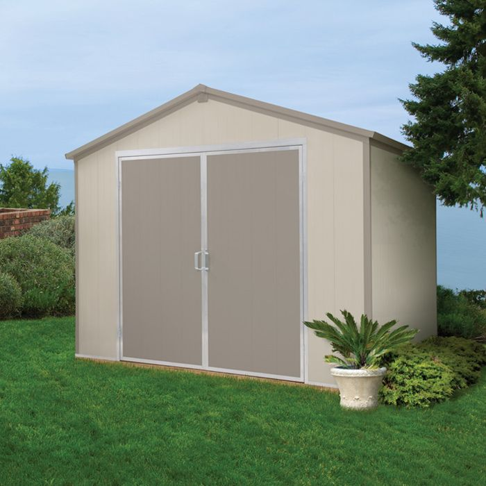 Vision 9 5 ft x 8 ft vinyl storage shed discover best for Vinyl storage sheds