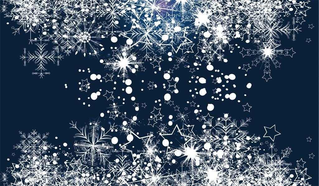 フリーイラスト素材 イラスト 背景 雪の結晶 雪 冬 星 スター