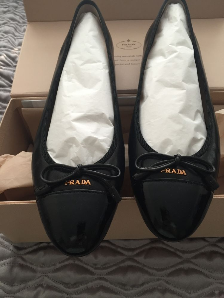 d8fbc4aa8f NIB Prada Cap-Toe Bow Ballet Flat - Black 39 #fashion #clothing #shoes  #accessories #womensshoes #flats (ebay link)