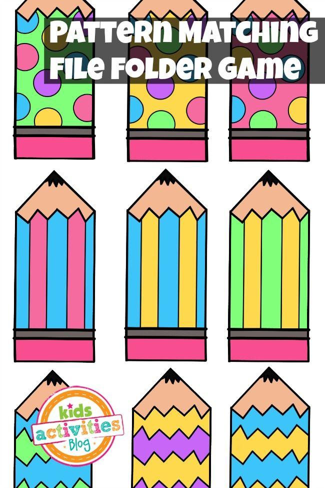 Pattern Matching Free Printable File Folder Game For ...