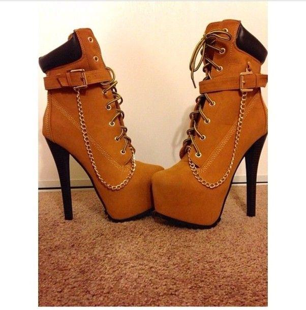 high heeled timberland boots | Timberland Platform Heels Shoes platform high heels