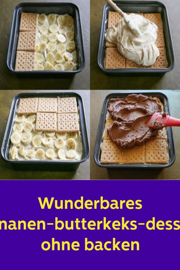 Wunderbares bananen-butterkeks-dessert ohne backen #recettesympa