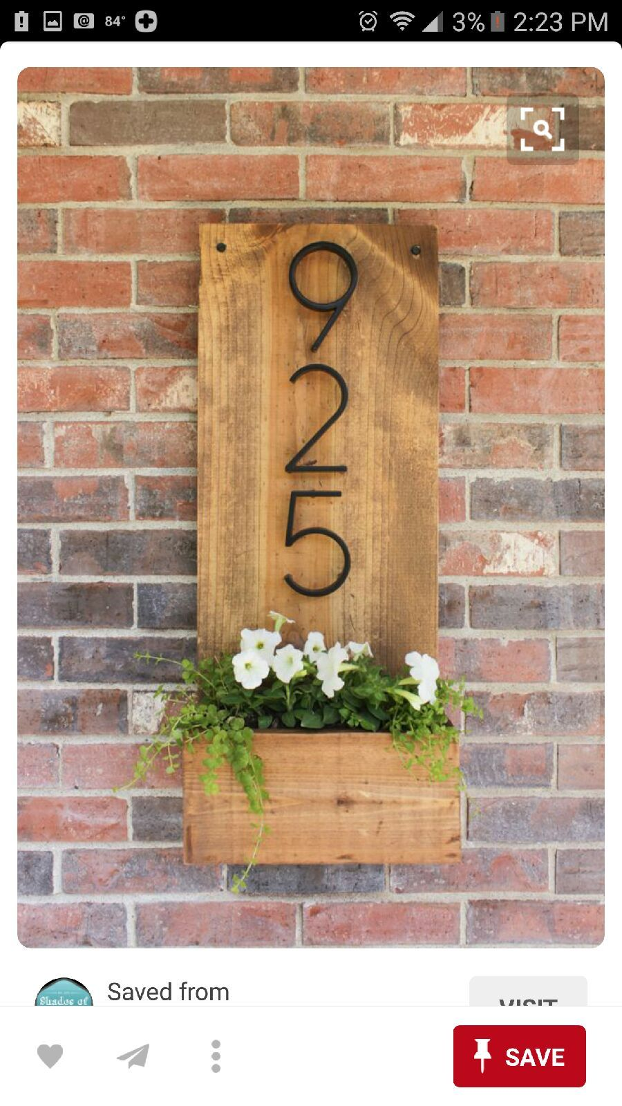 86ca5519f2b0 house number planter   Stuff for Home in 2019   DIY Home Decor ...