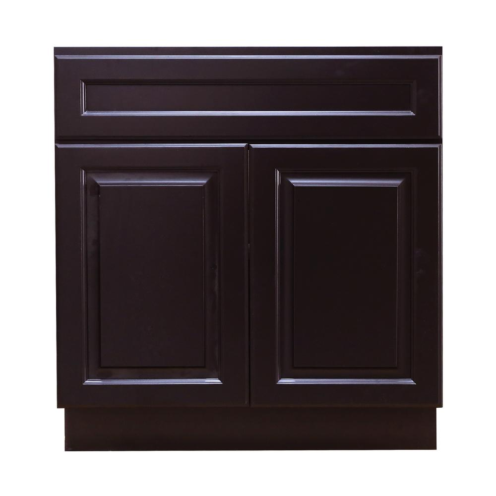 Lifeart Cabinetry 24 In W X 21 In D X 34 5 In H Ready To Assemble Vanity Cabinet With 2 Doors In Dark Base Cabinets Cabinetry Kitchen Cabinet Manufacturers