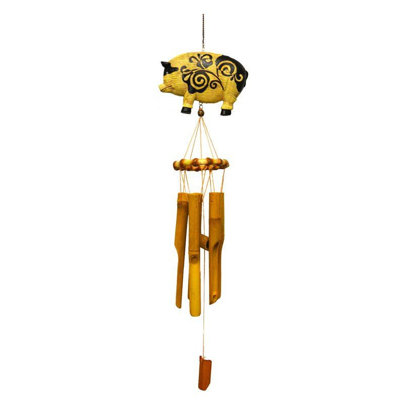 Great World Pig Bamboo Wind Chime 444002 Products Pinterest
