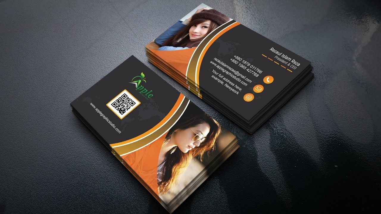Creative Business Card design - Photoshop Tutorial | Business Card ...