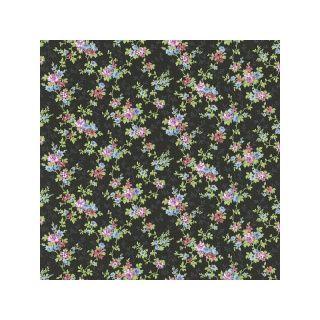 petite fleur 3 tapete blumen schwarz bunt 285146 v rasch textil tapeten pinterest tapeten. Black Bedroom Furniture Sets. Home Design Ideas