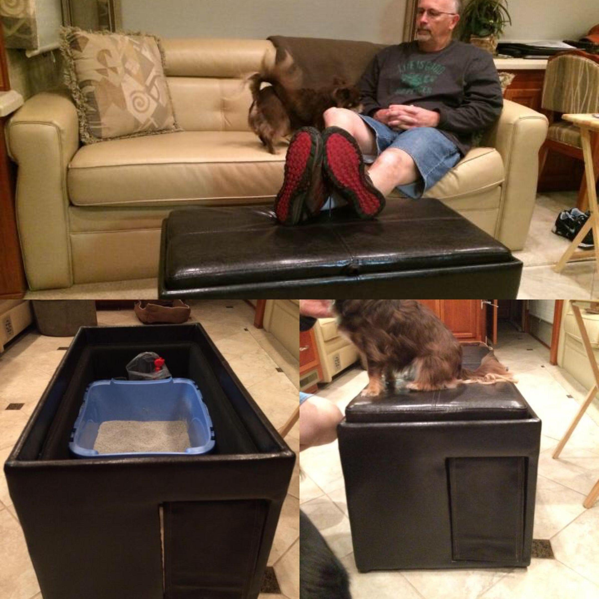Gotta Love @Txschupps Diy Idea For Hiding Their Cat Litter