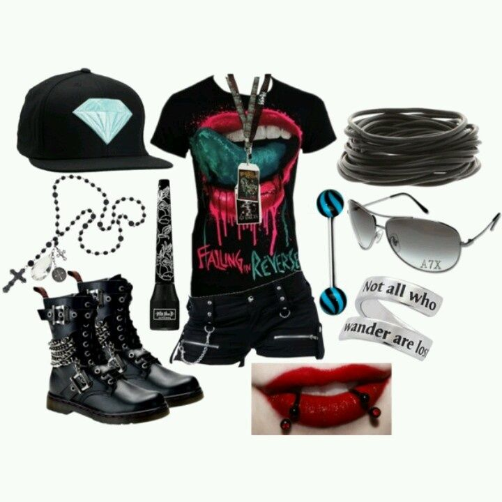 Image result for cute outfits for emo girls #emooutfits