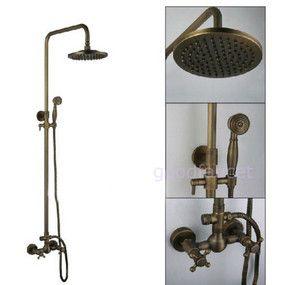 Antique Bronze Rain Bath Shower Set Faucet Mixer Tap 8 Shower Head