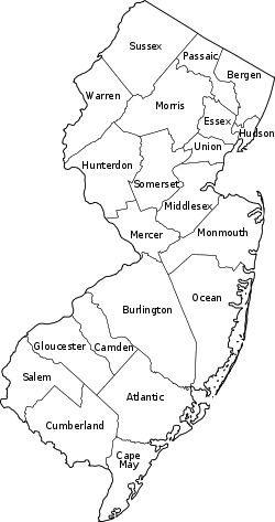 Counties In New Jersey Travel New Jersey And New York