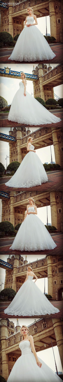 Charming sweetheart applique lace vintage bridal wedding dress