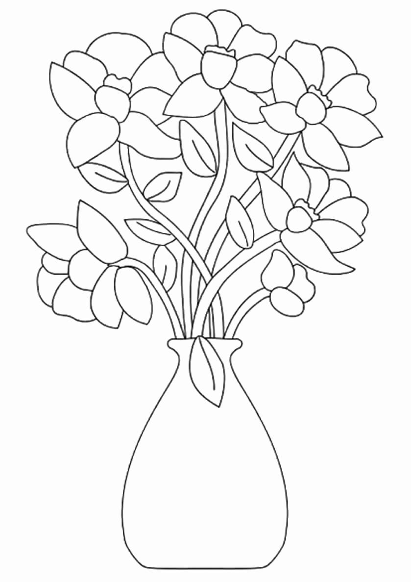 Bouquet Of Flowers Coloring Page Best Of Beautiful Printable Flowers Coloring Page Flower Coloring Sheets Flower Coloring Pages Printable Flower Coloring Pages