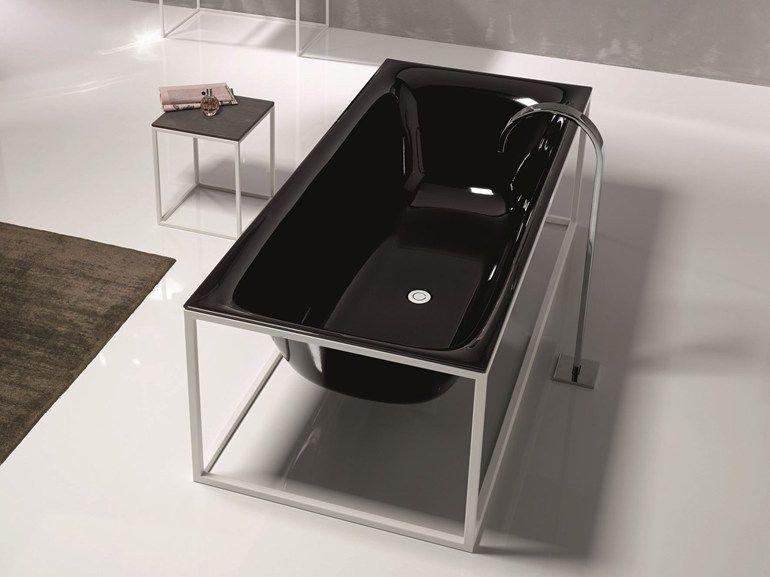Vasca Da Bagno Acciaio Porcellanato : Vasca da bagno centro stanza in acciaio smaltato bettelux shape