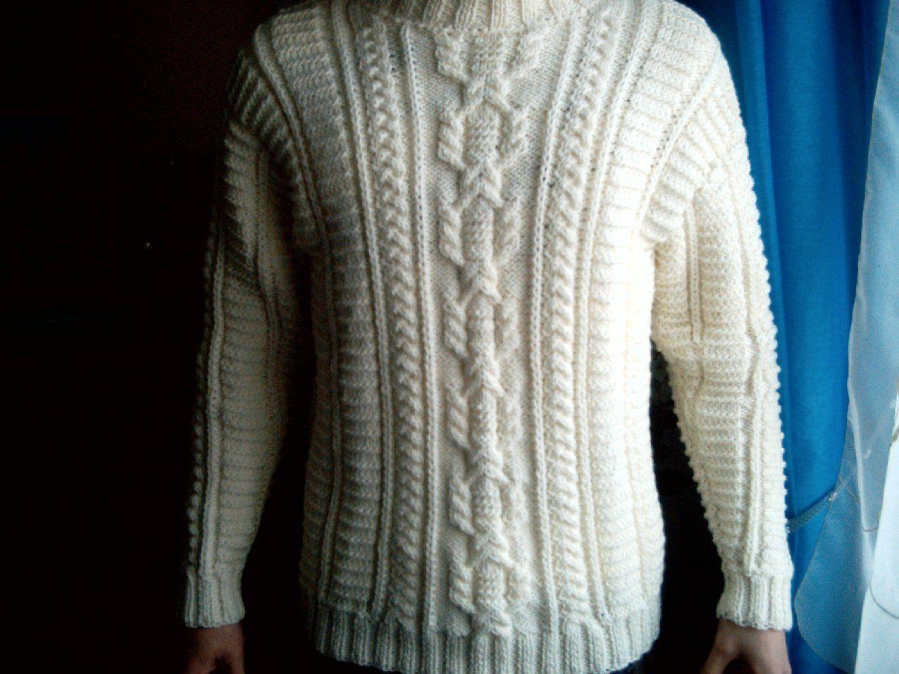 modèle tricot gilet irlandais homme | tricot | Pull