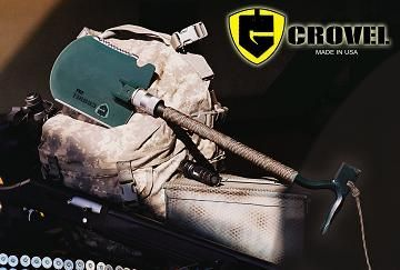 Crovel - **new tool** - The Ultimate Survival Multi-tool Shovel.     The Crovel's unique patent pending design combines the functions of over 13 tools, including a shovel and crowbar, into one indespensible tool that can handle a multitude of tasks.    (I saw this guy on an episode of