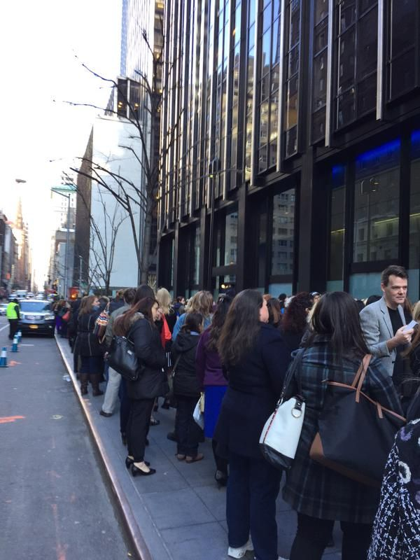 FANS waiting for the doors to open 4/1/15 Tartan Affair