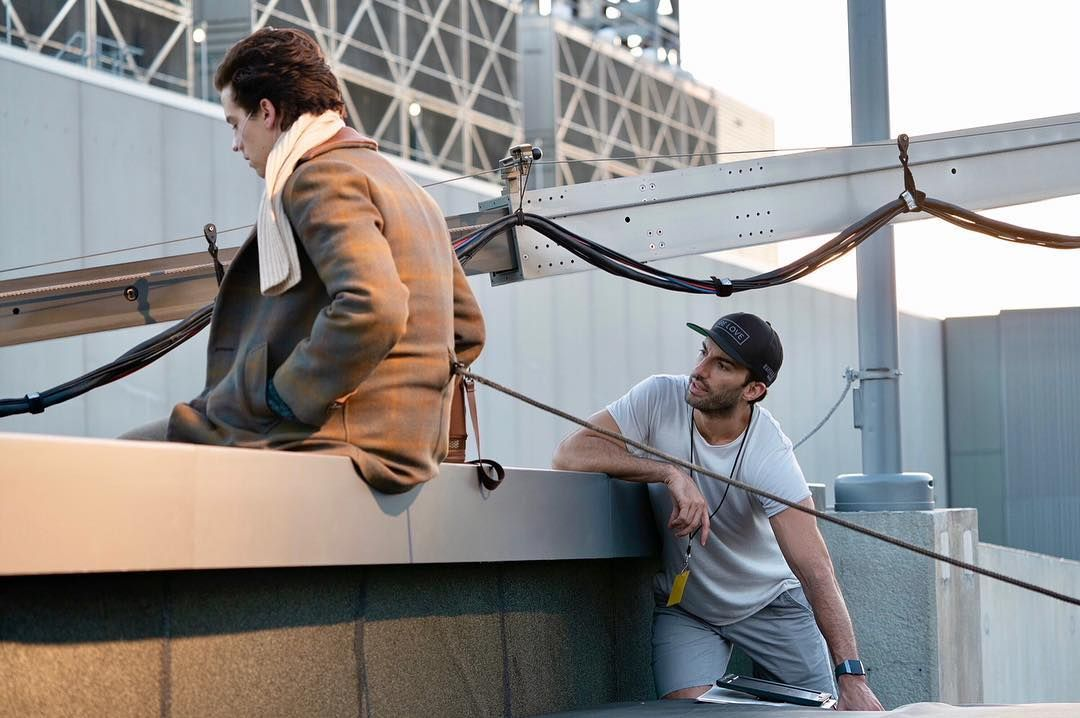 Behind The Scenes With Our Lead Actor Colesprouse And Our Director Justinbaldoni On Fivefeetapart Family Movie Theater Romance Movies Best Romance Movies