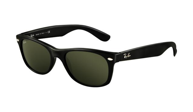 ray ban rb2132 wayfarer sunglasses shiny black frame dark green