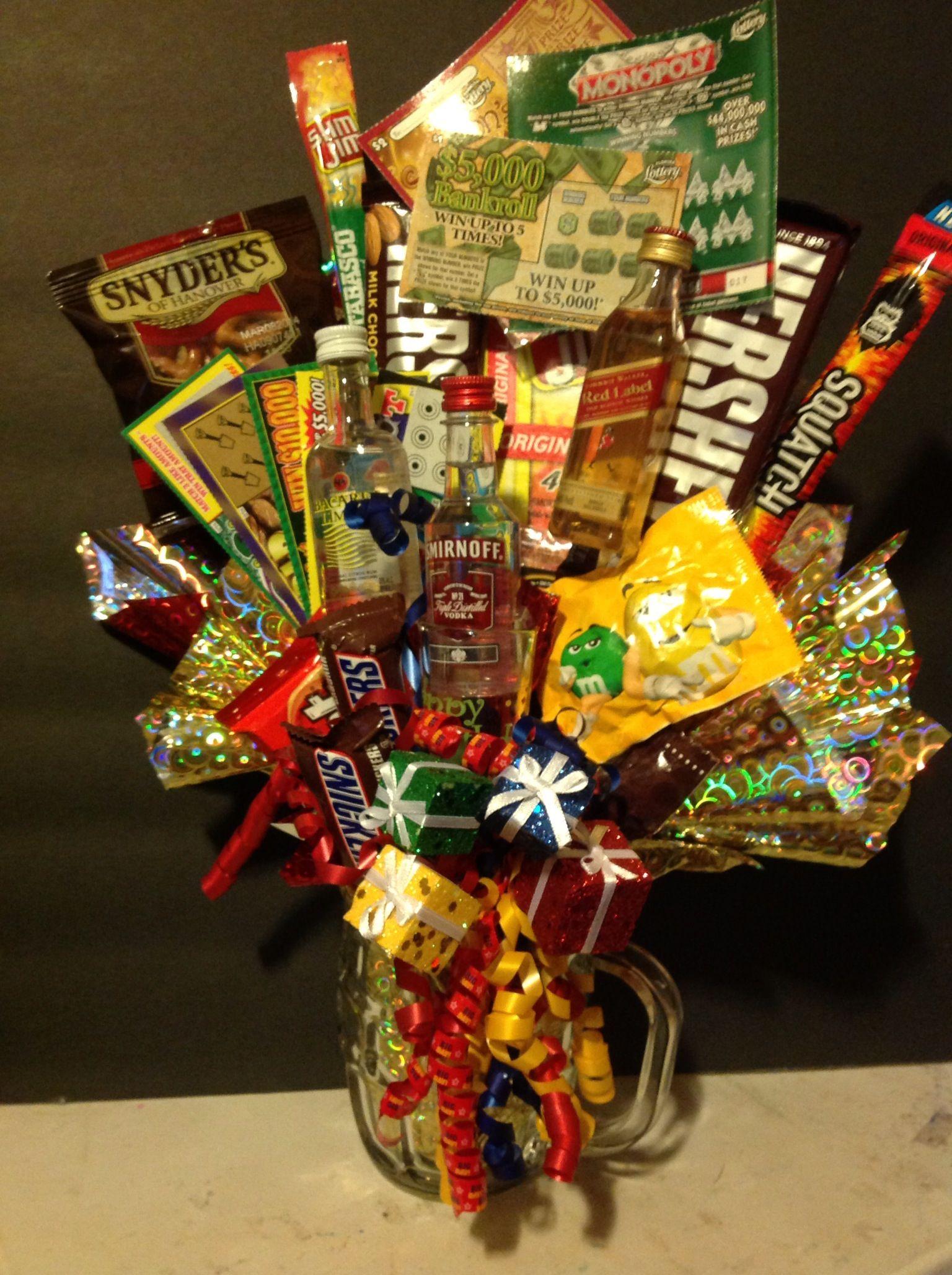 BIRTHDAY TREAT FOR HIM OR HER Diy Birthday Baskets For Him