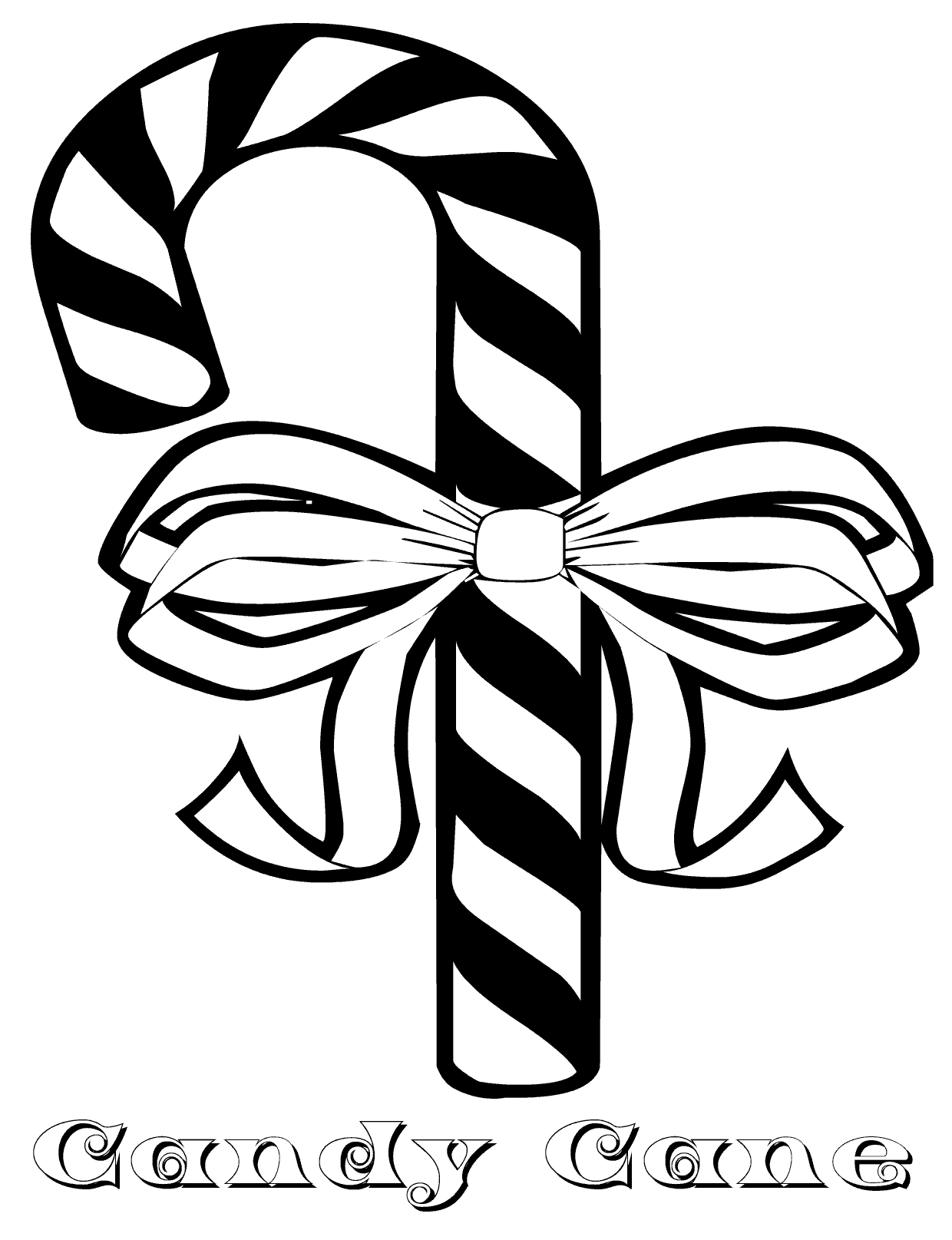 Candy Cane Coloring Pages Free
