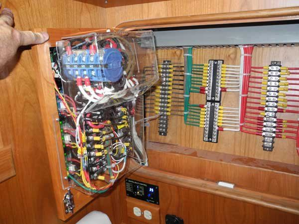photo of a boat electrical system