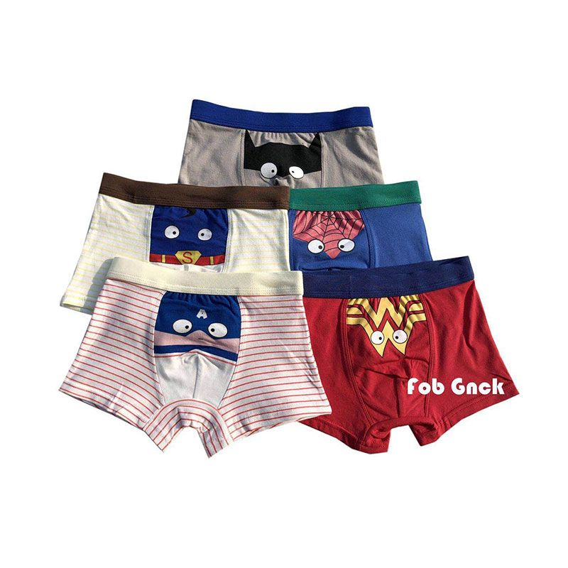 Fashion 5PCS//Set Children Boy Underpants Cotton Soft Boxer Underwear for Kids