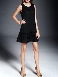 Paneled Mini Dress with Short Coat