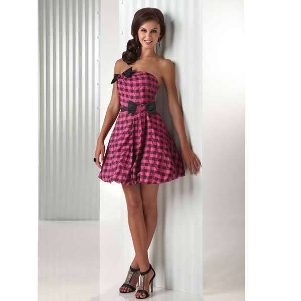 plaid dress | Flirt Prom Dresses – Plaid Short Dress | ShePlanet ...