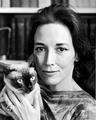 Helen Gurley Brown with her Siamese